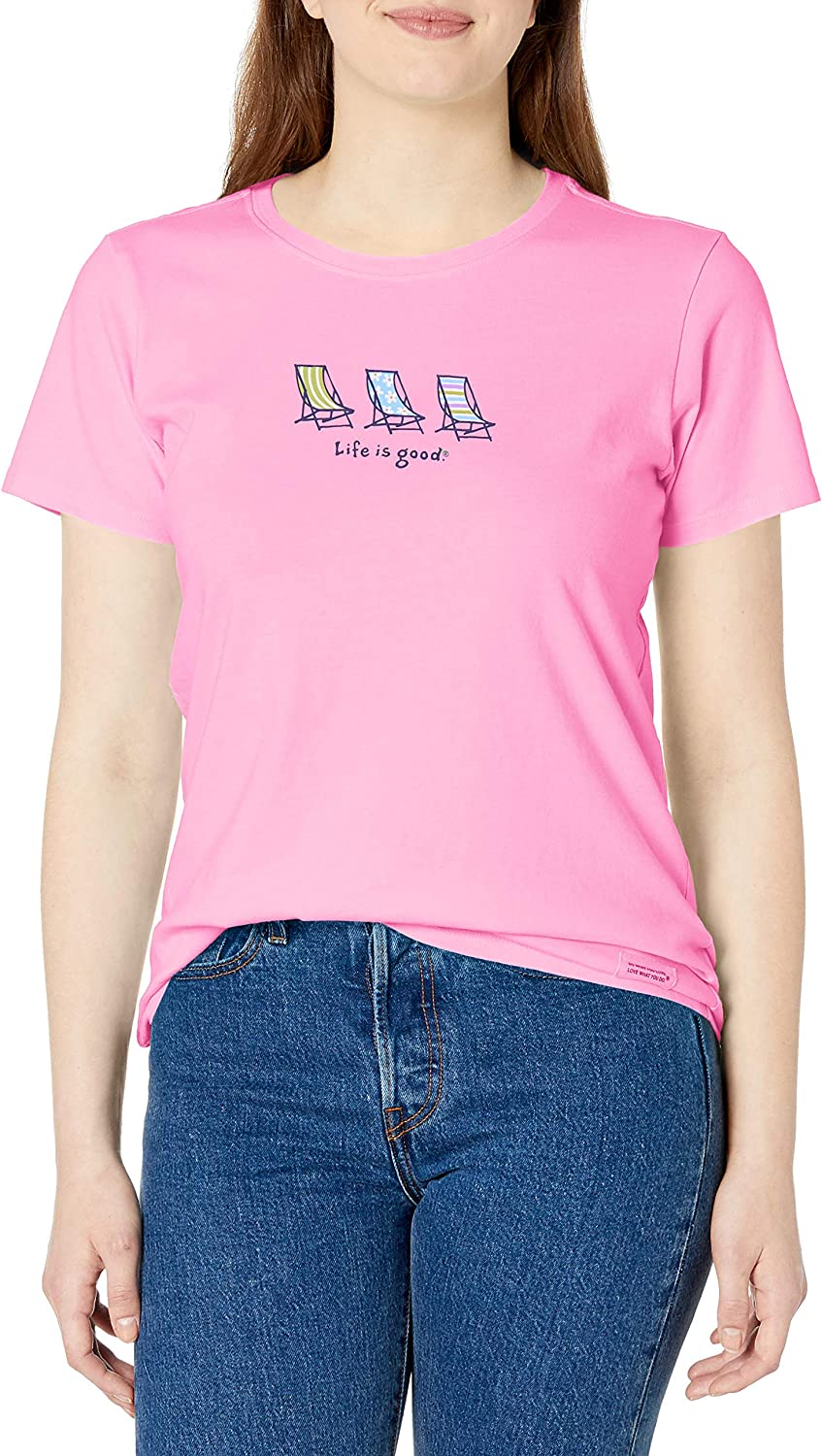 Life is Good Womens Vintage Crusher Graphic T-Shirt