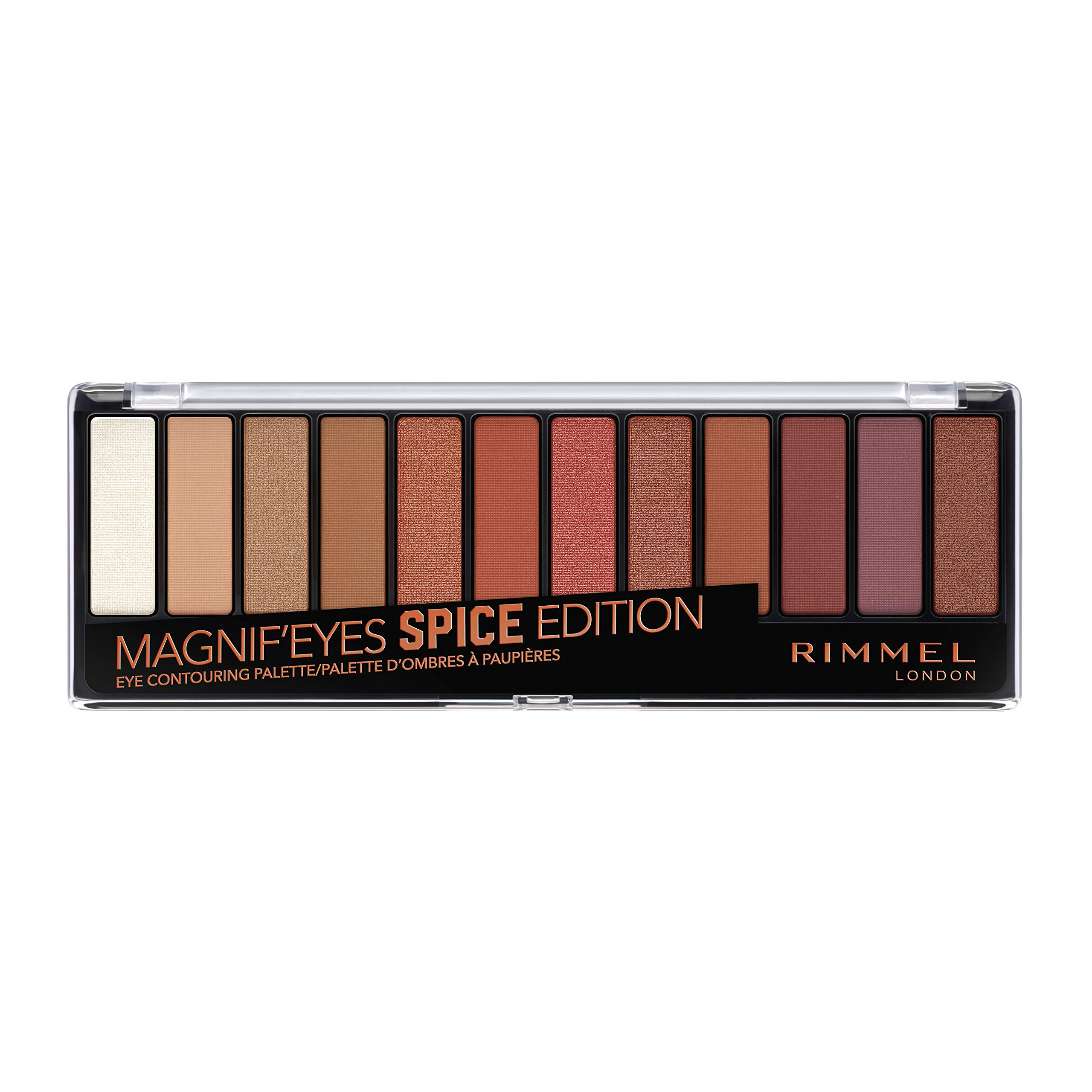 Rimmel Magnif'eyes Eyeshadow Palette, Spice (1 Count)