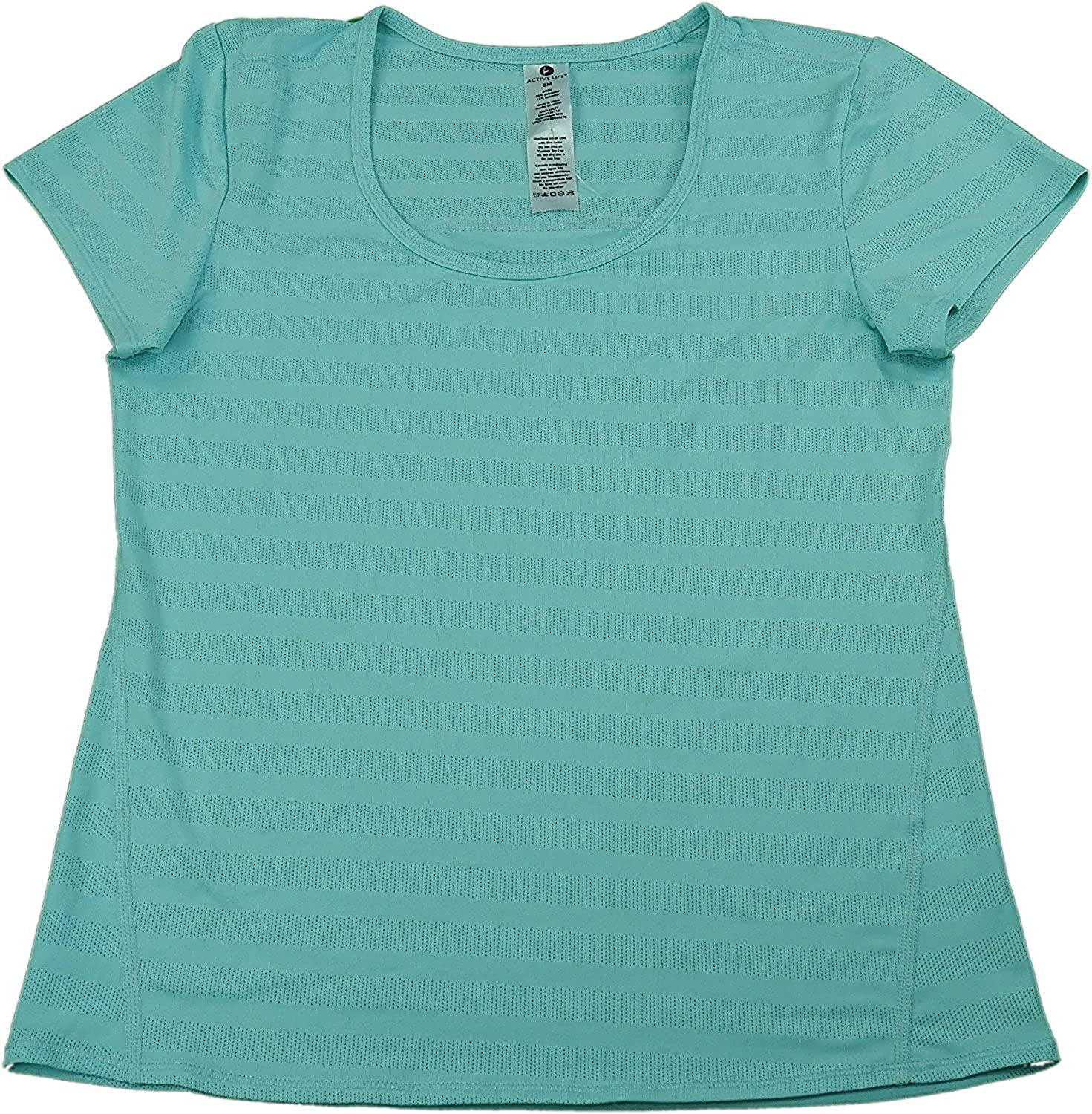 Active Life Ladies Performance Moisture Wicking T-Shirt Aqua Mint