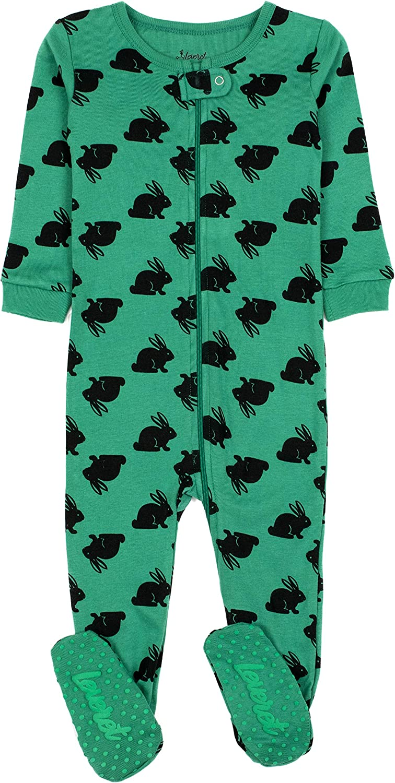 Size 6-12 Months-5 Toddler Leveret Kids Pajamas Baby Boys Girls Footed Pajamas Sleeper 100/% Cotton