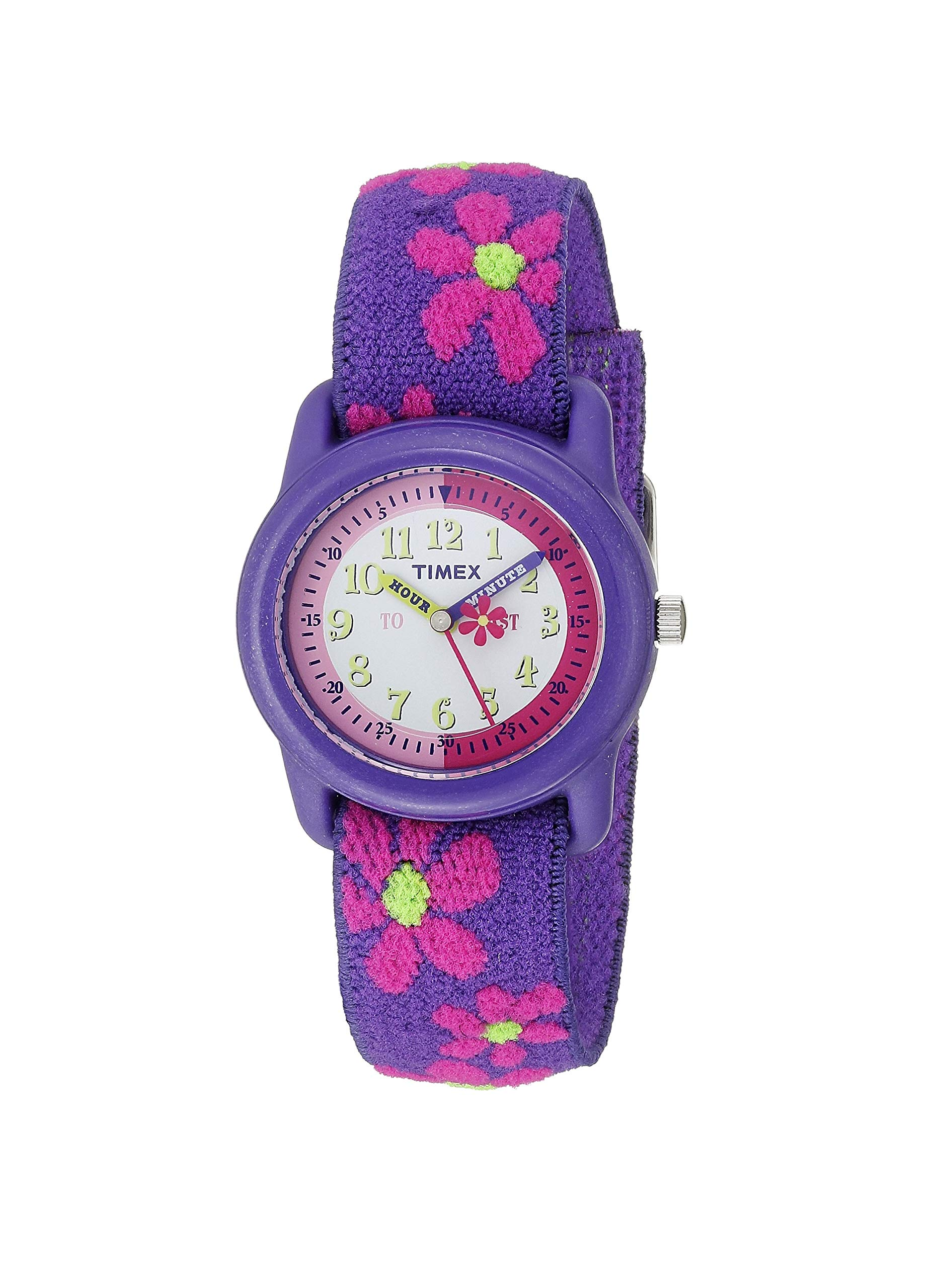 Timex Analog Youth Watch - Kidz Analog | Purple Case & Elastic Strap by Timex
