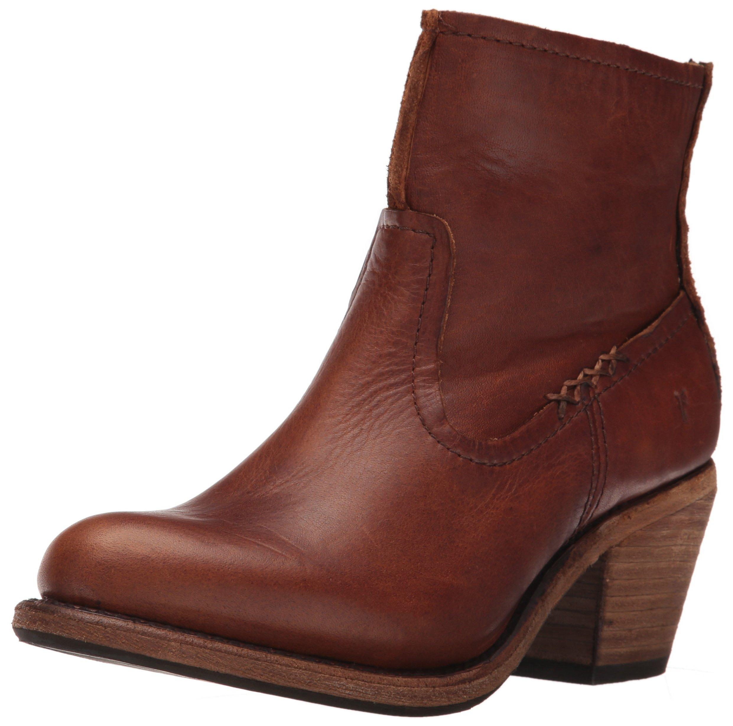 FRYE Women's Leslie Artisan Short Boot, Cognac, 7.5 M US