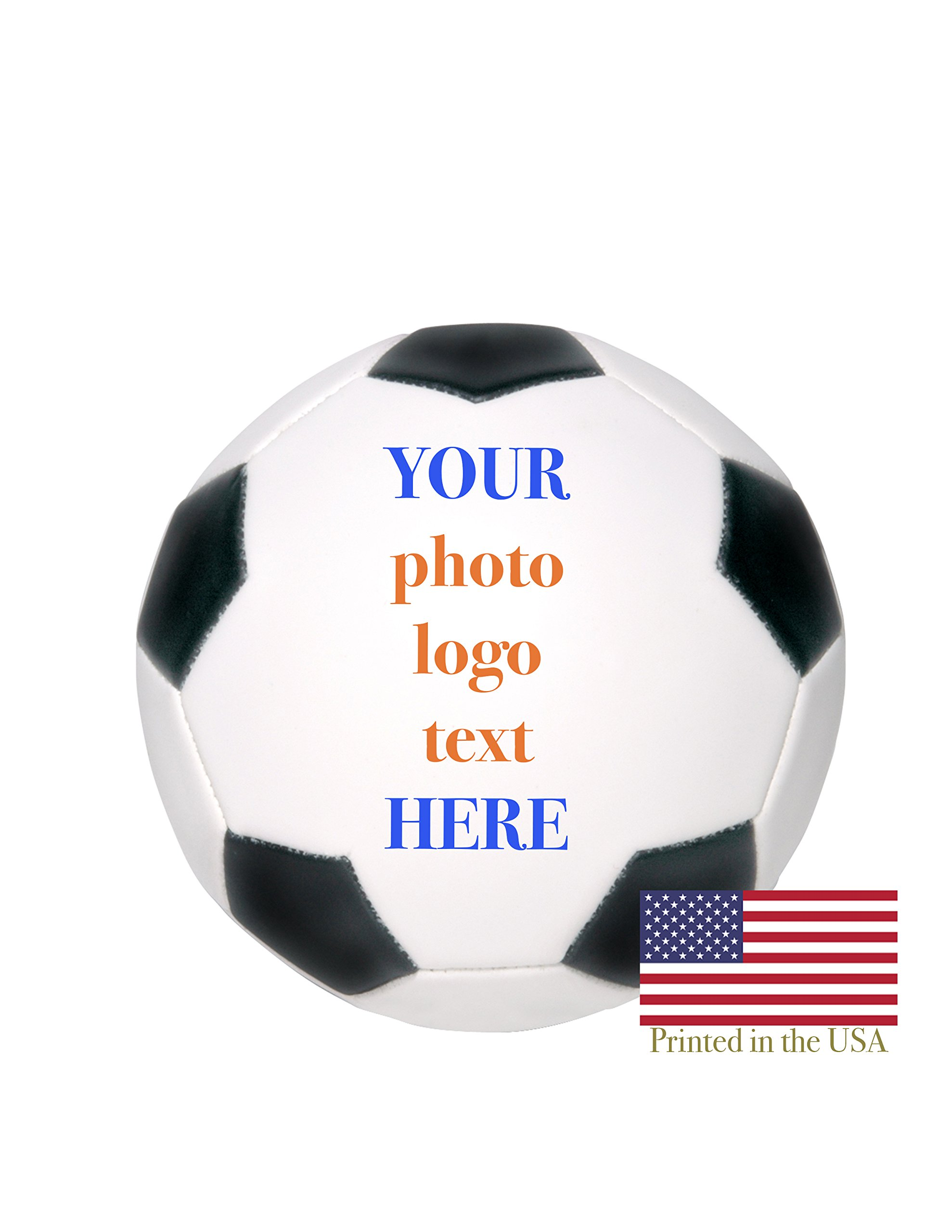 Custom Personalized Mini Soccer Ball 6 Inch Soccer Ball Ships Next Day, High Resolution Photos, Logos & Text on Soccer Balls for Trophies, Personalized Gifts