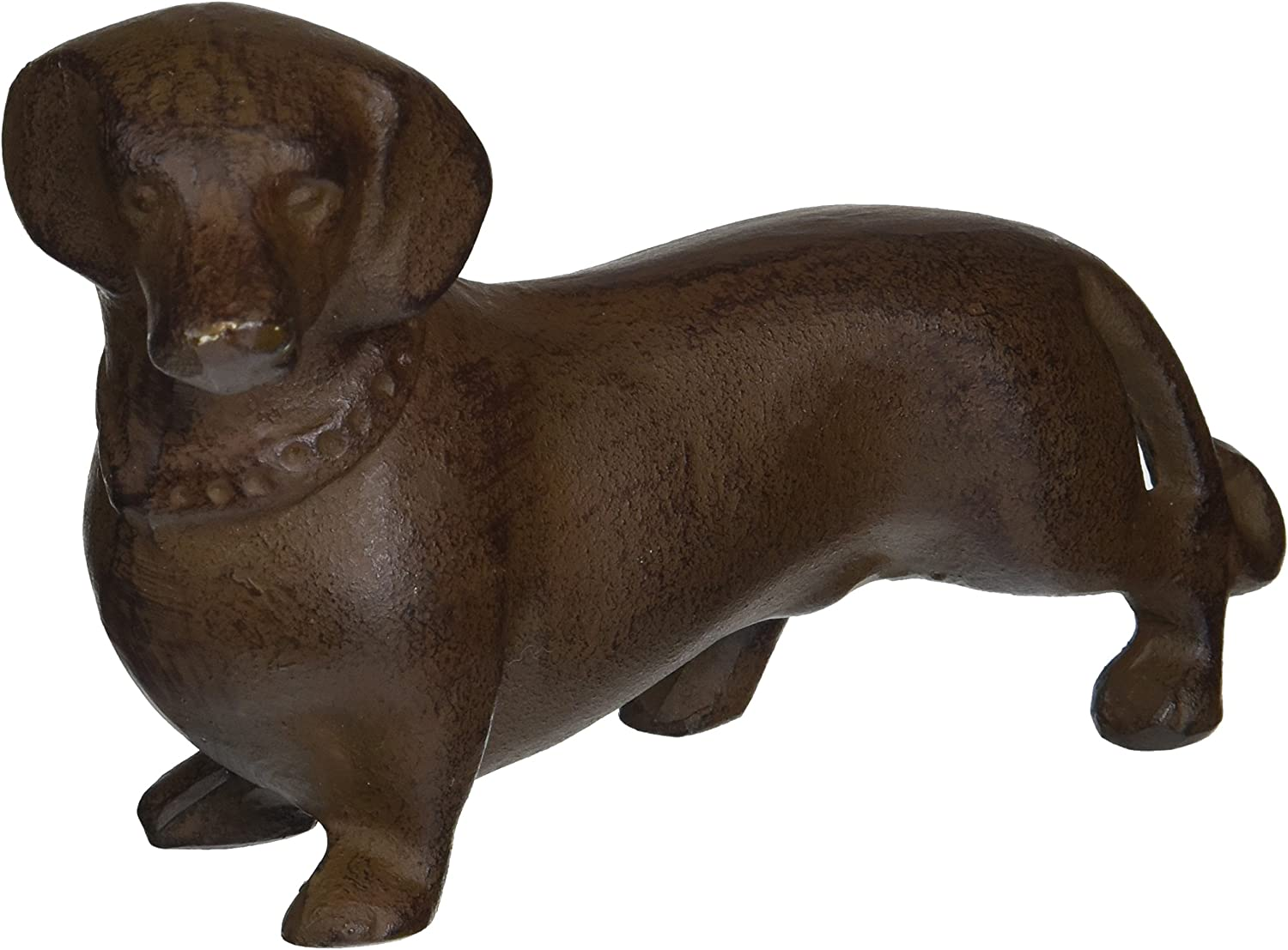 Abbott Collection Cast Iron Dachshund Figurine, Dark Brown