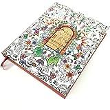 【Angelicate】毎日が楽しくなる イラスト付き 日記帳 フラワー モチーフ A5 クラフトケース入り しおり付 (幸せの扉)