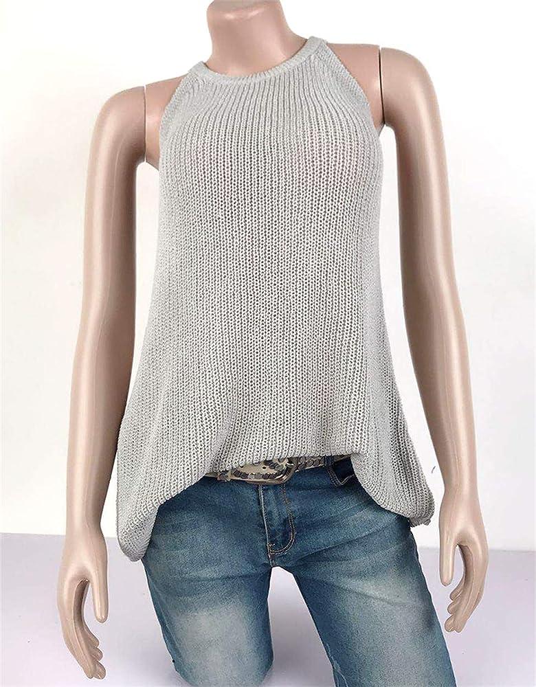JIER Liquidación Camisa Casual sin Mangas con Cuello en V para Mujer Camisas sin Mangas Camisas sin Mangas de Verano Blusas Chaleco (Gris, S): Amazon.es: Ropa y accesorios