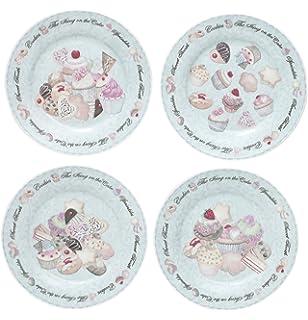 Amazon.com | Rosanna Eat Dessert First Dessert Plates Set of 4 ...