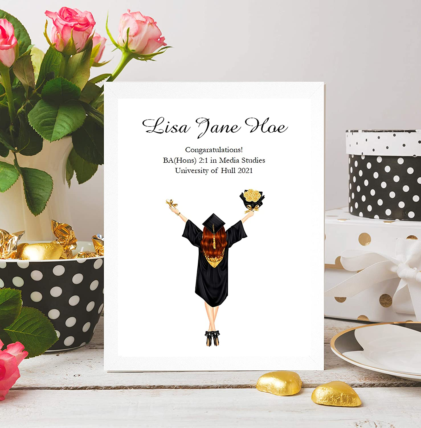 Personalised Graduation Day Print Present Gift GD11