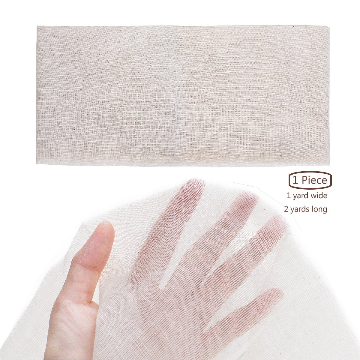 Unbleached ,Nut Milk Bag,Cheesecloth Strainer Bag,Pressing Cloth Food Grade 1 Cheesecloth 【Grade 90】【18 Sq Feet】,100/% Natural Cotton Reusable Produce Bags