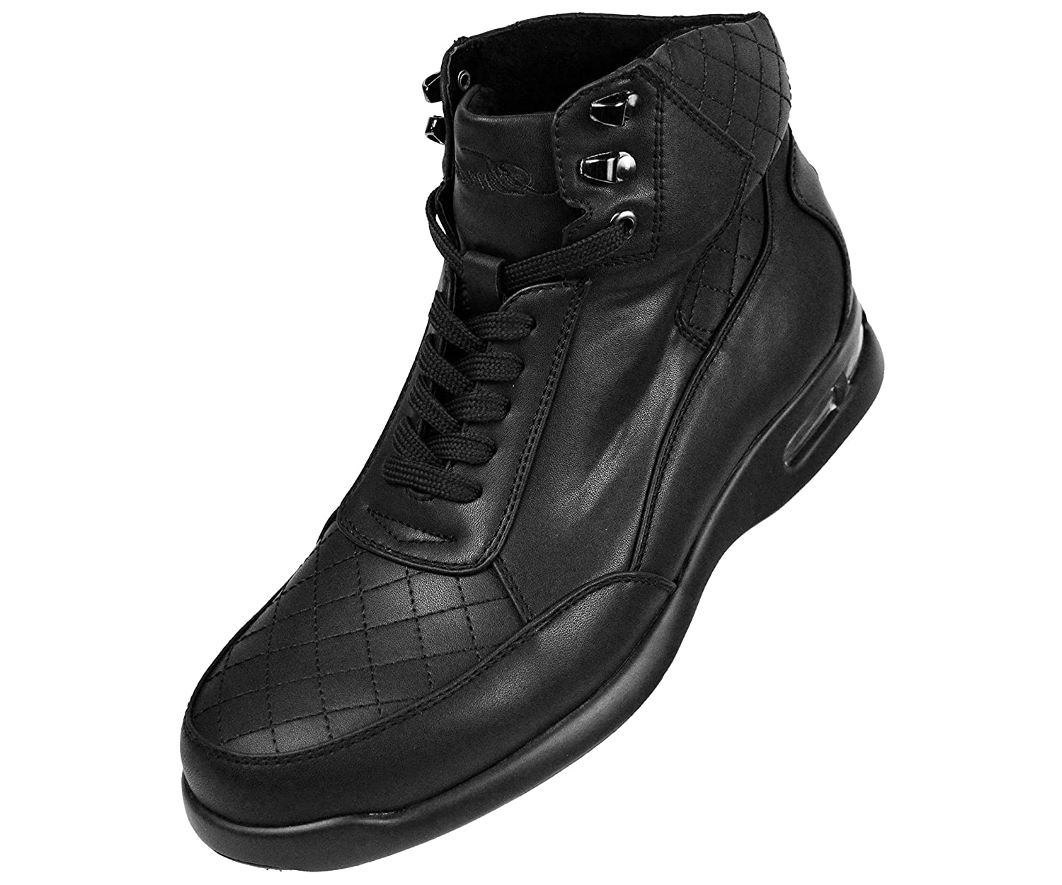 Sio Mens Smooth Low Top Quilted Casual Boot with Matching Colored Air Bottom Style Jaxon