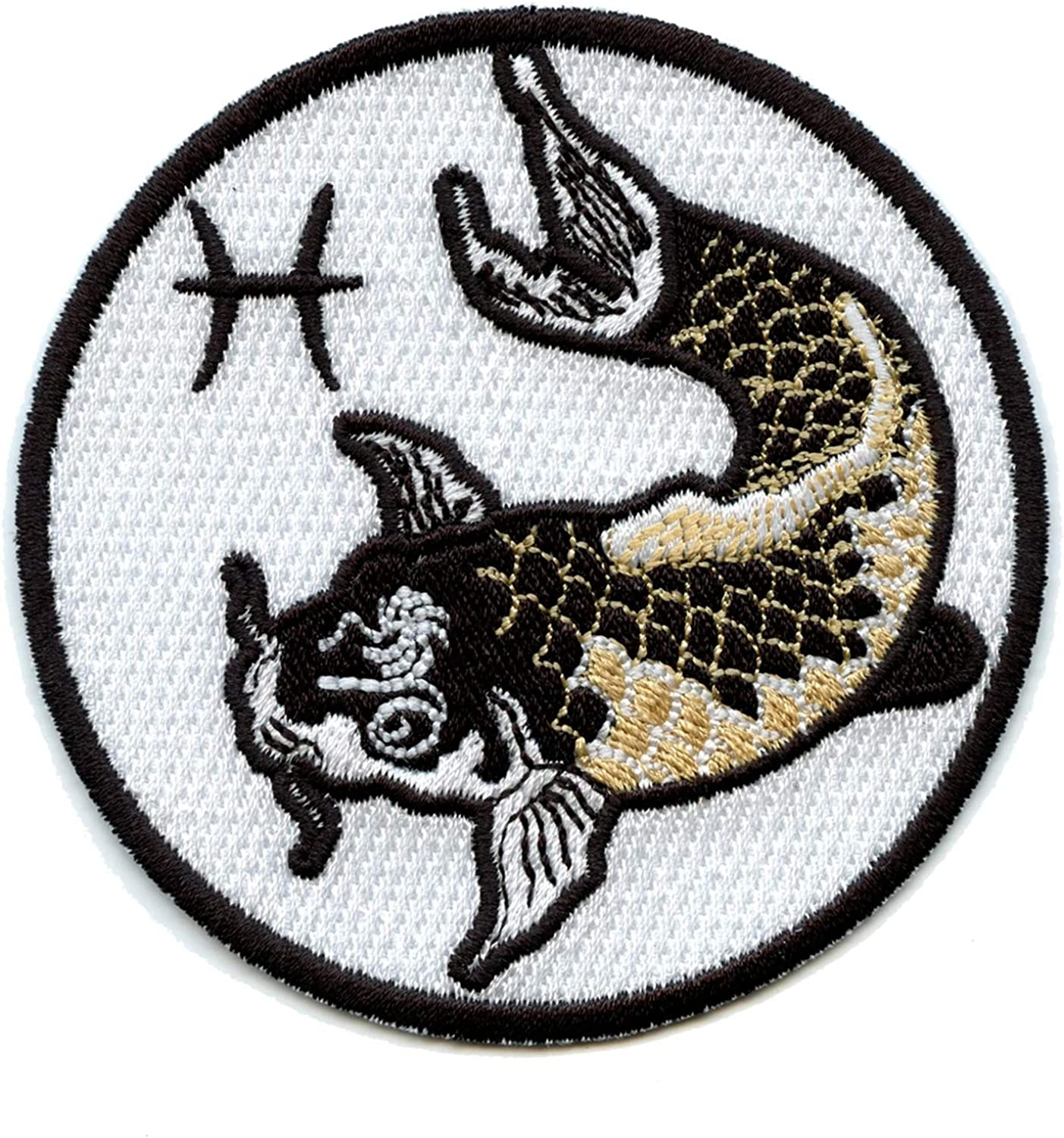 Patch Badge Patch Embroidered Printed Thermoadhesive Sign Zodiac Fish