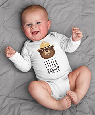 Smokey the Bear Boy Girl Baby Clothes Bodysuit Short Long Sleeve Newborn 3 6 9 12 18 24 Months