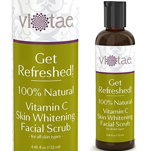 100% Natural Vitamin C Skin Whitening Facial Scrub, Gentle Exfoliating & Smoothing