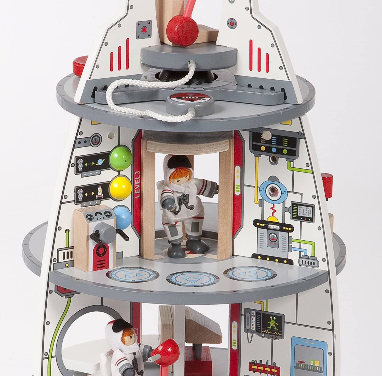 amazon com hape discovery spaceship and lift off rocket toys u0026 games