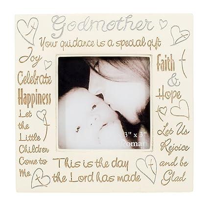 Amazon.com - 1 X Godmother Heartfelt Words 3x3 Square Picture Frame ...