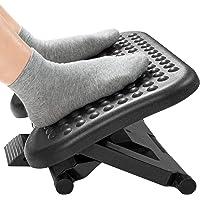 HUANUO Voetsteun met 3 verstelbare hoogtes & verstelbare hellingshoek, anti-slip voetkruk met massagefunctie past voor…