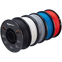 AmazonBasics Filament PLA pour imprimante 3D 1,75 mm 5 couleurs assorties 1 kg par bobine 5 bobines