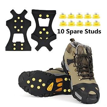 36788d7af2 Crampon Antidérapent, EONPOW Walk Sur-chaussure Antidérapante 1 Paire Crampons  Anti-verglas /