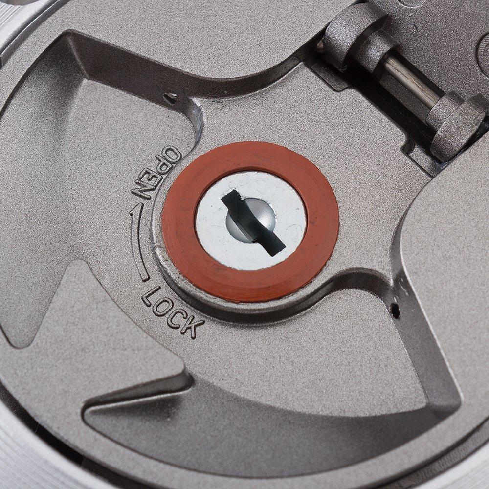 Cerradura de interruptor de encendido de motocicleta Cerradura de asiento de combustible Cerradura de tanque de combustible con 2 llaves para Kawasaki ZX7R ZX9R ZXR400 ZX900