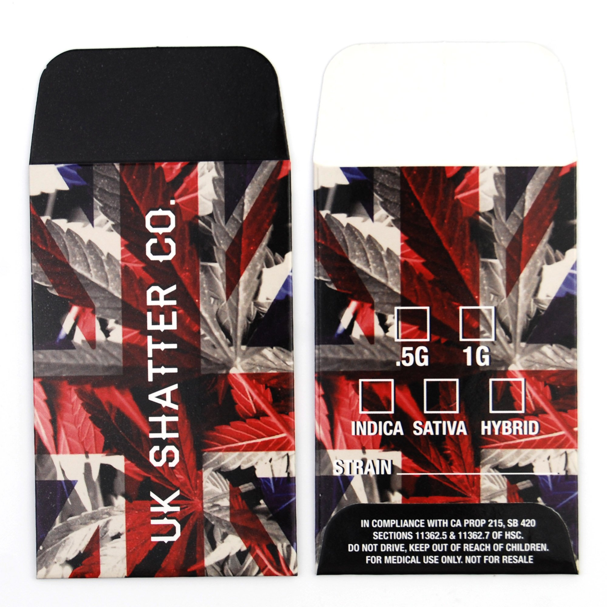 250 UK Shatter Company Premium Concentrate Packaging Extract Envelopes #094 by Shatter Labels