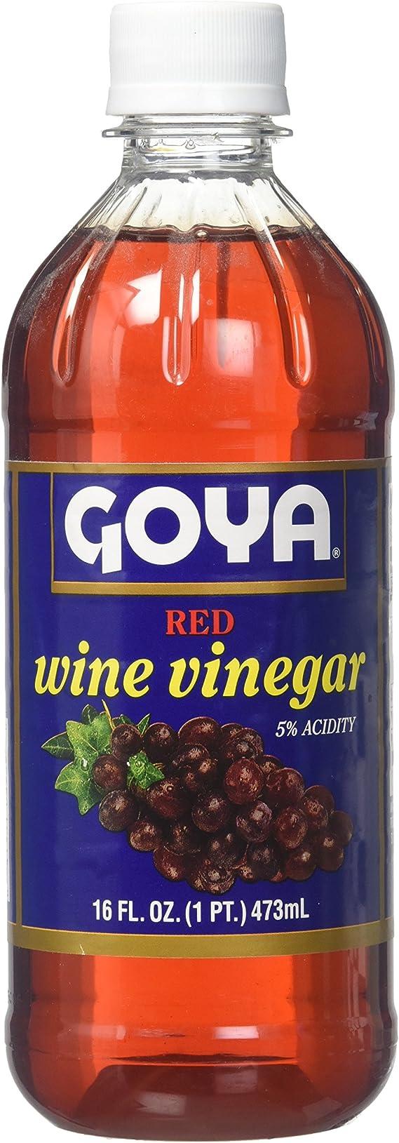 (1) Goya Red Wine Vinegar 16 oz