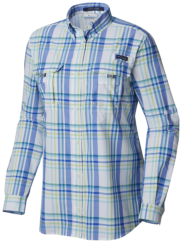 Columbia Womens PFG Super Bahama Long Sleeve Shirt Breathable UV Protection