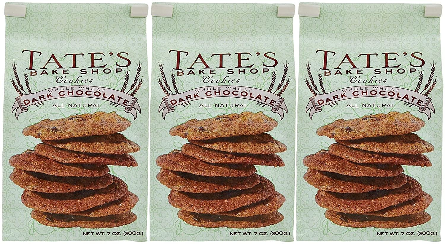 Amazon.com: Tate's Bake Shop Cookies - Whole Wheat Dark Chocolate ...