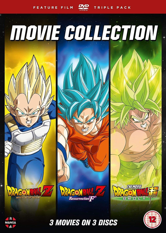 Dragon Ball Movie Trilogy Battle Of Gods, Resurrection F , Broly Reino Unido DVD: Amazon.es: Sean Schemmel, Jason Douglas, Vic Mignogna, Christopher Sabat, Tatsuya Nagamine, Sean Schemmel, Jason Douglas: Cine y Series