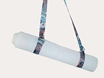 Selmasi Yoga Mat Strap with Adjustable D-Ring Yoga Mat Carrier Printed