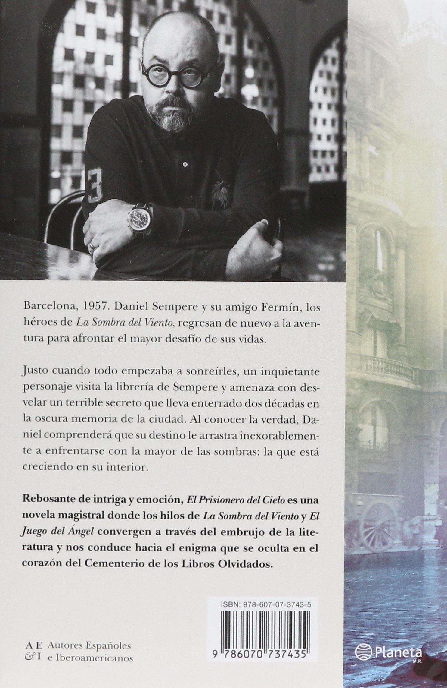 El prisionero del cielo: Carlos Ruiz Zafón: 9786070737435: Amazon.com: Books