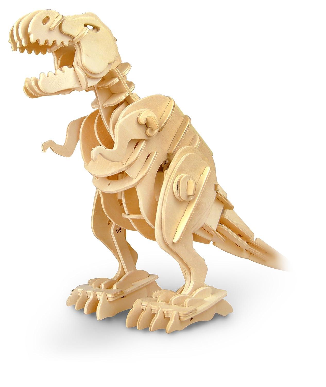 3D wooden puzzle kit D210 Tyrannosaurus moving (japan import)