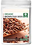 Naturevibe Botanicals Organic Brown Flax Seed (2lb), Gluten-Free & Non-GMO (32 ounces)