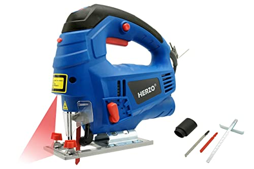 Blackdecker ks701ek gb compact jigsaw with blade 520 w amazon herzo electric jigsaw laser guide 800w variable speed control rip guide 2 wood greentooth Choice Image