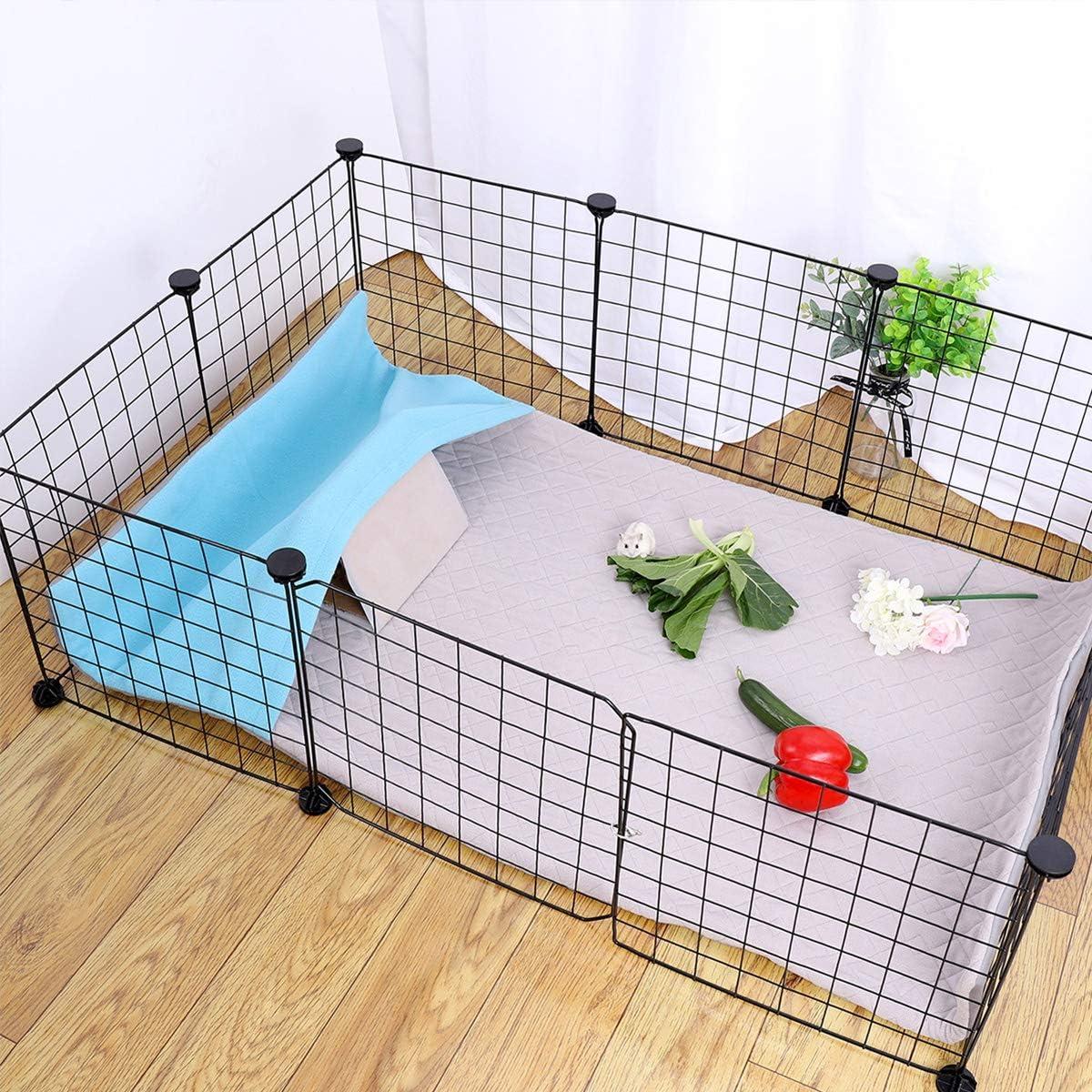 Midwest Extra Absorbent Guinea Pig Fleece Cage Liners Guinea Pig Bedding Fleece Cage Liner with Burrowing Pocket Sleeve Waterproof