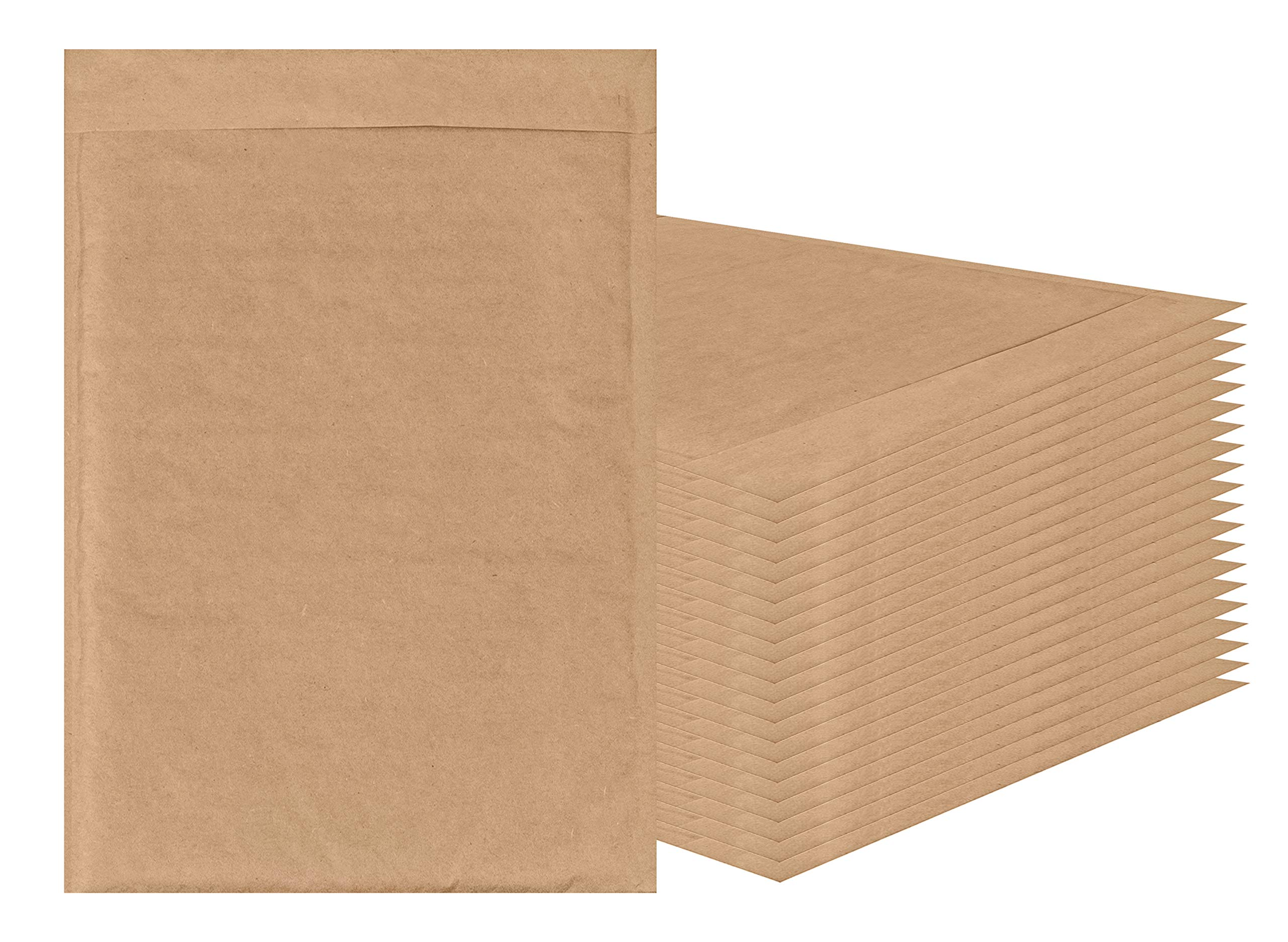 AMIFF Natural Kraft bubble mailers 14 x 20 Brown Padded envelopes 14 x 20 by Amiff. Pack of 10 Kraft Paper cushion envelopes. Exterior size 15 x 20 (15 x 20). Peel and Seal. Mailing, shipping. by Amiff (Image #1)