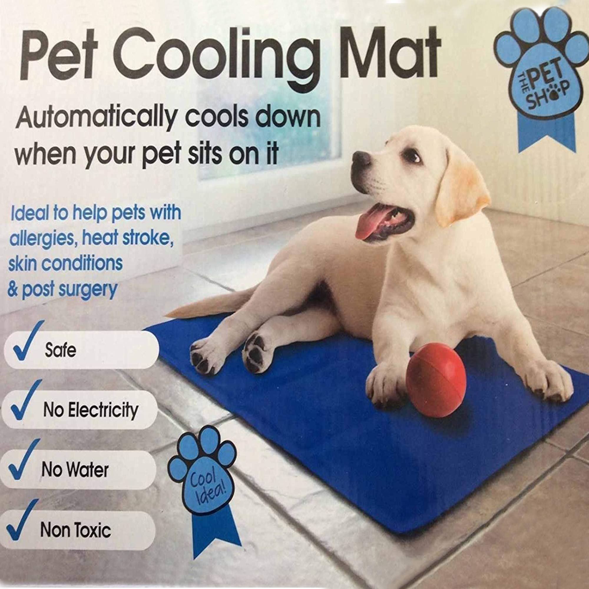 GOODONE Pet Cooling mat,2019 New Self Cooling Pad Fast Heat Dissipation Continuously Cool for Kennels, Crates and Beds