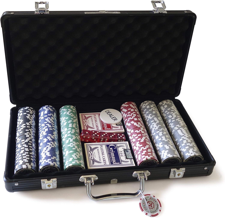 Mallette Poker 300 laser jetons de poker set de poker cards alu valise argent