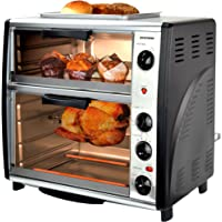 Syntrox Germany BO-3142A Double-Four multifonctions en acier inoxydable avec Barbecue 42 Litres