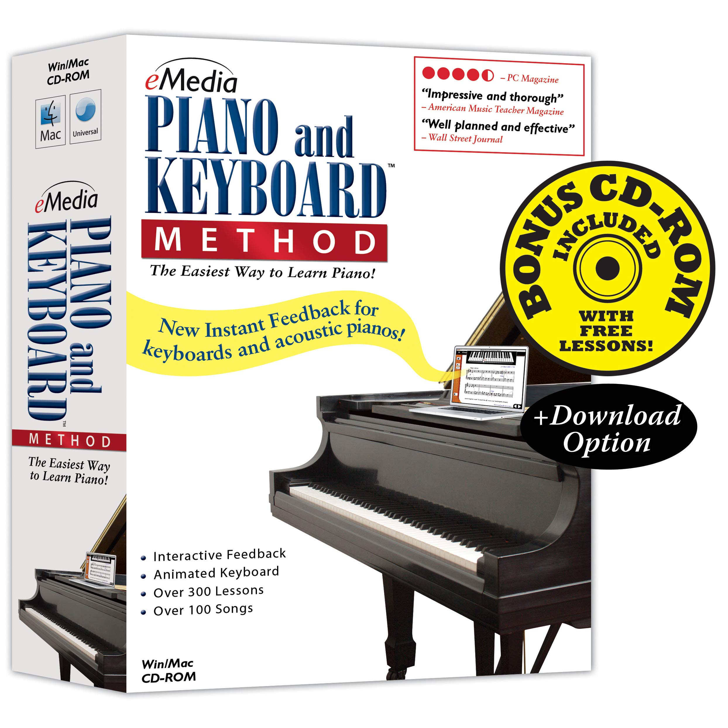 eMedia Piano and Keyboard Method v3 - Amazon Exclusive Edition with 150+ Additional Lessons by eMedia