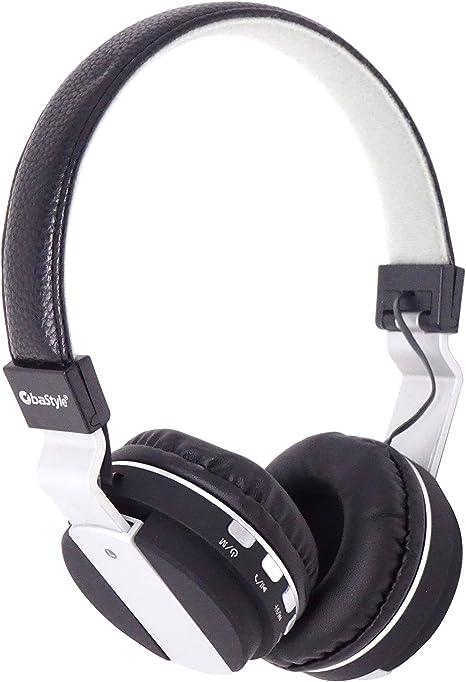 OBA STYLE Auriculares Bluetooth 4.2 micrófono MP3 MicroSD Radio FM ...