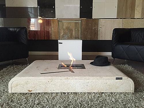 brûleur Bioéthanol en avec pierre blaze Table bio basse 5qR34ALj