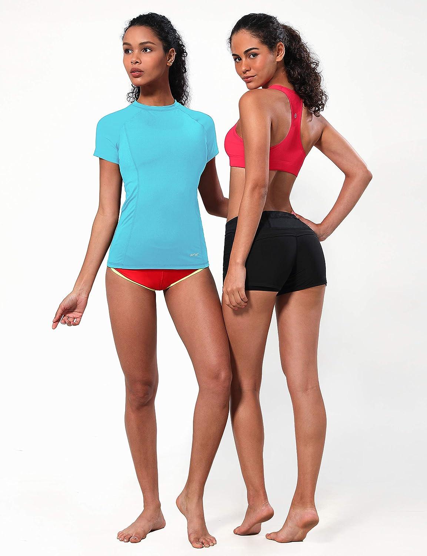 BUBBLELIME Long//Short Sleeve Rashguard for Women UPF 50 Sun Protection Swim Shirts Swimsuit Swim Top Surfing Swimwear