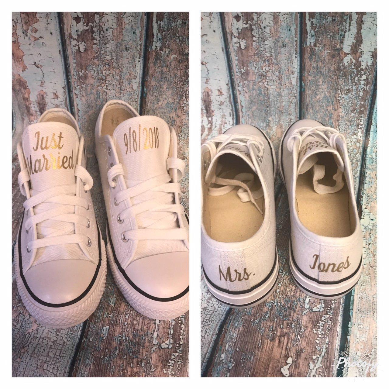 Personalized Bridal Wedding Shoes