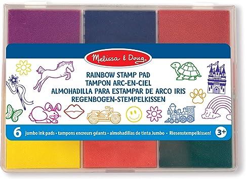 Gummi-Stempel 4 St/ück Stempelkissen f/ür Babysicherheit 4 Farben