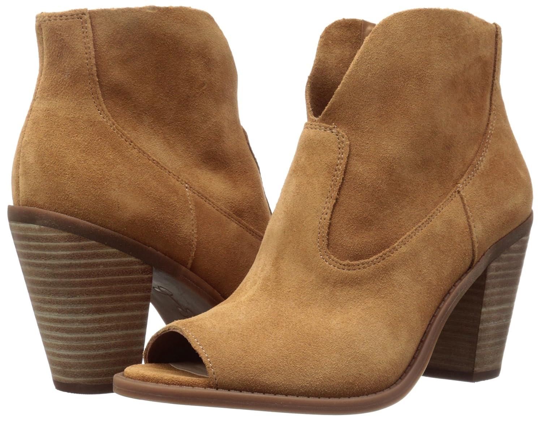 Jessica Simpson Women's Chalotte Ankle Bootie B01GH8QL5Q 9 B(M) US|Honey Brown
