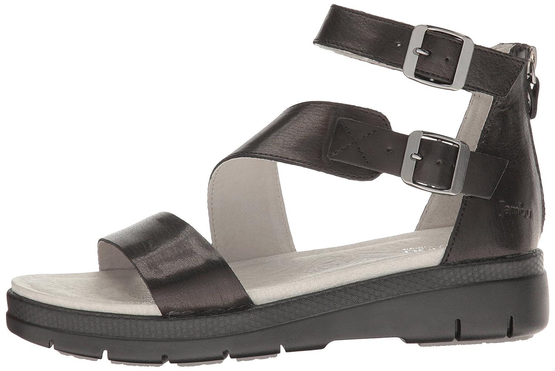 Jambu Women's Cape May Wedge Sandal Solid B01IDQN702 9.5 B(M) US|Black Solid Sandal 5a30e5