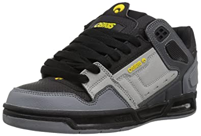 Osiris Mens Peril Skate Shoe Charcoal/Black/Yellow 5.5 ...