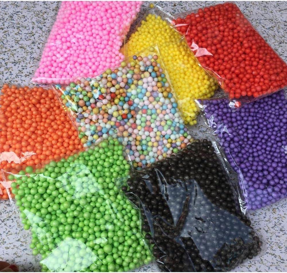Verde Dosige Bolitas de Espuma,Material DIY,Craft Espuma Part/ículas,Relleno para Slime 13000-14000PCS Size 2.5-3.5mm