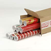 Clairefontaine 211420AMZC -un carton de 8 Rouleaux papier Cadeau Accacia 5mx0m70, Motifs Noël tradi Assortis