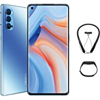 OPPO Reno4 Pro 5G Smartphone, 12GB RAM, 256GB (Galactic Blue) + Gift Box contains Bluetooth Neckband and Fitness band